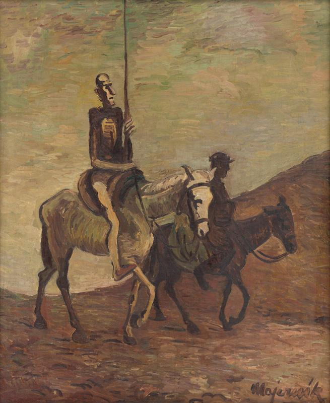 Cyprián Majerník: Don Quijote a Sancho Panza, okolo 1940, Slovenská národná galéria