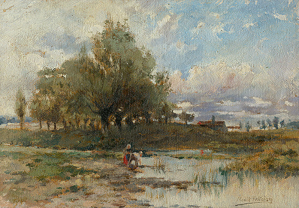 Felicián Moczik - Krajina s rybníkom