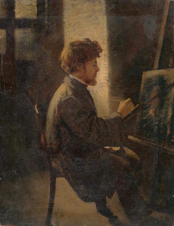 Leopold Horovitz - Maliar pri práci