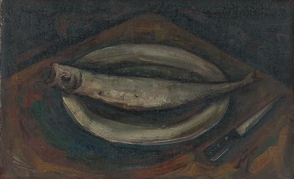 František Studený – Zátišie s rybou