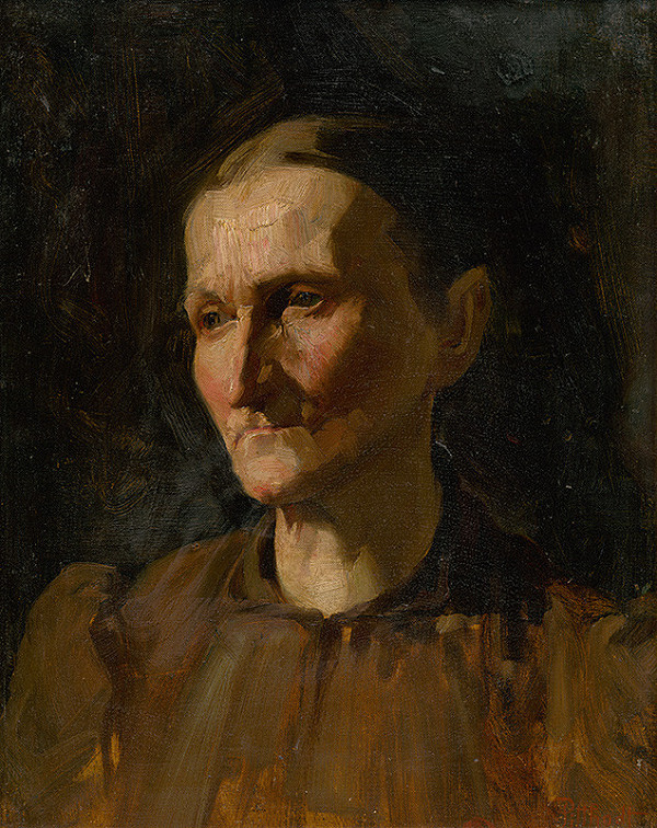 Ľudovít Pitthordt - Štúdia ženskej hlavy