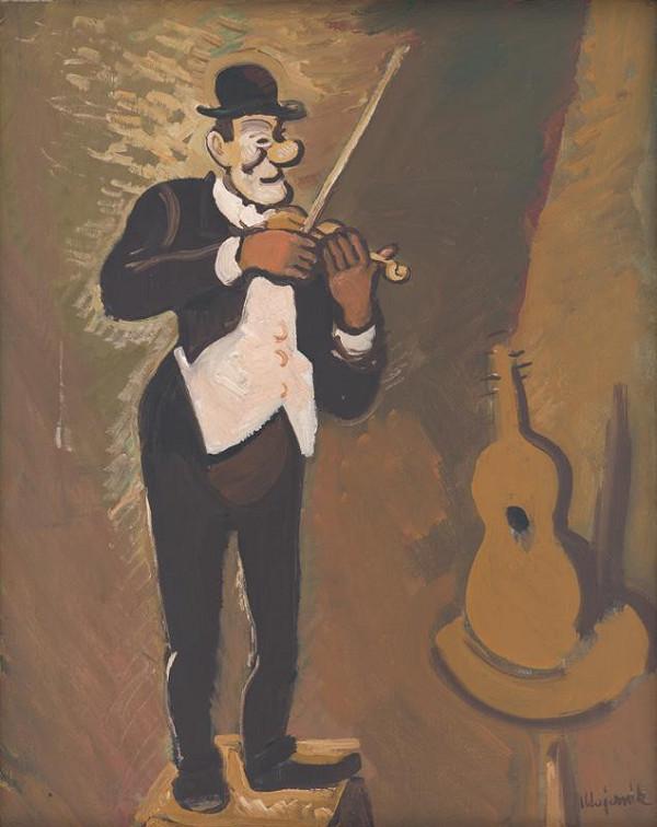 Cyprián Majerník - Clown hrajúci na husliach