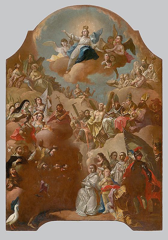 Slovenský maliar z 18. storočia, Neznámy maliar - Nanebovzatie Panny Márie so zástupom všetkých svätých