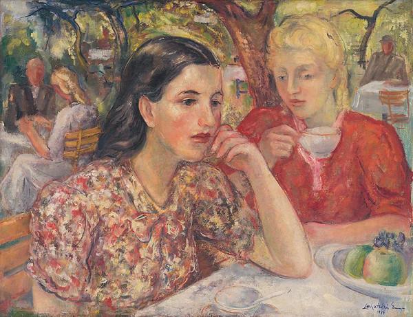 Eugen Lehotský - Posedenie v záhrade