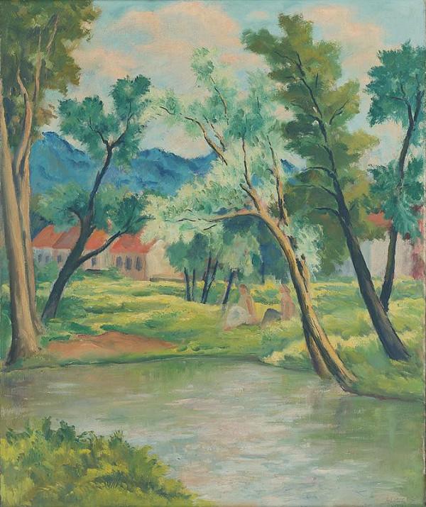 Eugen Lehotský – Krajina s riekou