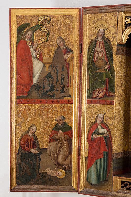 Slovenský maliar z 1. štvrtiny 16. storočia - Zvestovanie, Narodenie, Svätý Kozma-rub