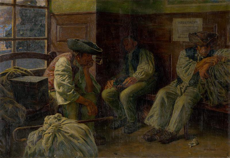 Miloš Slovák – Slovenskí vysťahovalci, 1911, Slovenská národná galéria