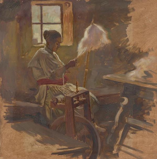 Antonín Brunner – Čičmianka pri kolovrate