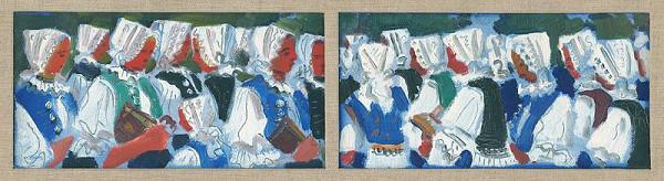 Martin Benka – Štyri myjavské ženy vo sviatočnom kroji