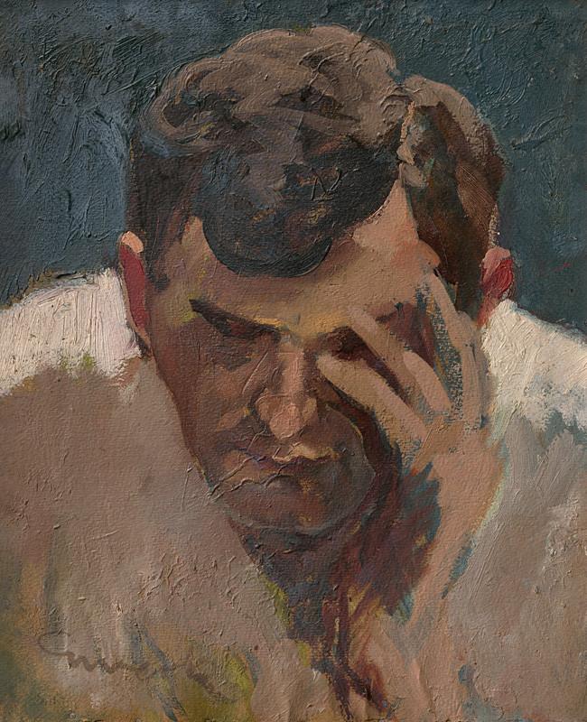 Edmund Gwerk – Štúdia k obrazu 'Starosti'