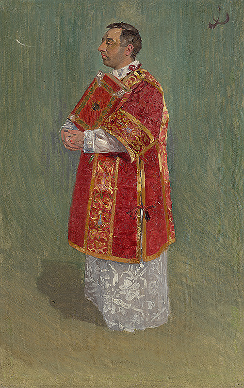 Joža Úprka – Postava kňaza