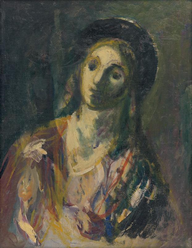 Ján Mudroch – Žena s čiernym klobúkom, 1940, Slovenská národná galéria