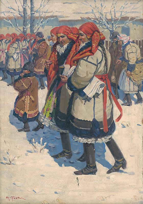Antoš Frolka - Moravské Slovenky v zime