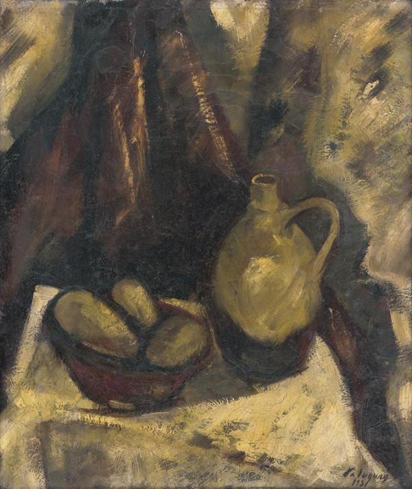 Zolo Palugyay - Zátišie so zemiakmi a krčahom