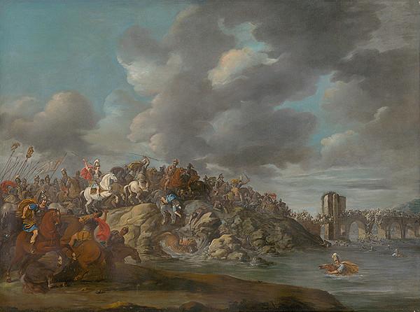 Nemecký maliar z 1. polovice 18. storočia – Bitevná scéna I.