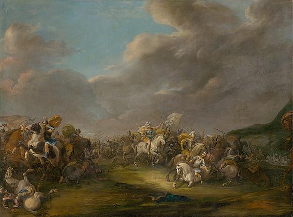 Nemecký maliar z 1. polovice 18. storočia - Bitevná scéna II.