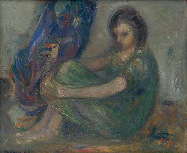 Ján Mudroch - Sediace dievča