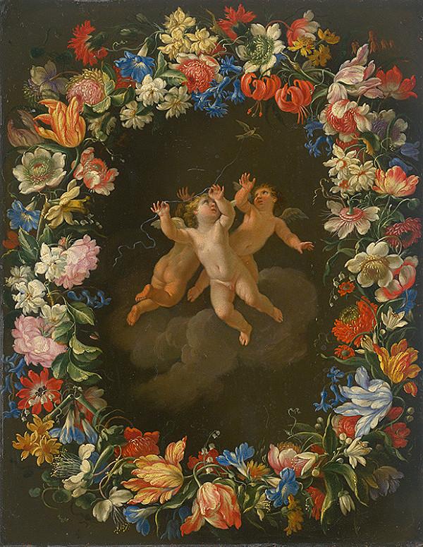 Stredoeurópsky maliar z 18. storočia, Český maliar z konca 18. storočia - Anjelíci v kvetinovom venci II.