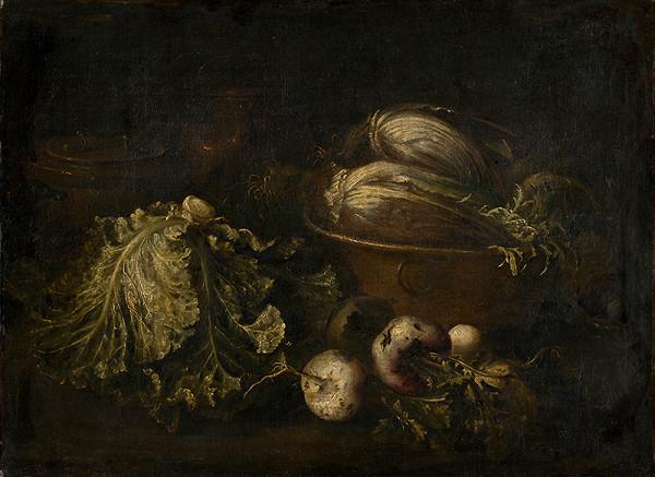 Giovanni Battista Ruoppolo, Taliansky maliar z polovice 17. storočia - Zátišie so zeleninou