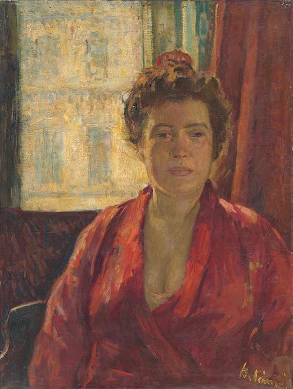 Viktor Belányi – Portrét pani Belányiovej