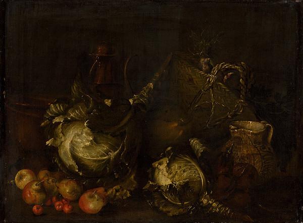 Giovanni Battista Ruoppolo, Taliansky maliar z polovice 17. storočia – Zátišie so zeleninou a ovocím