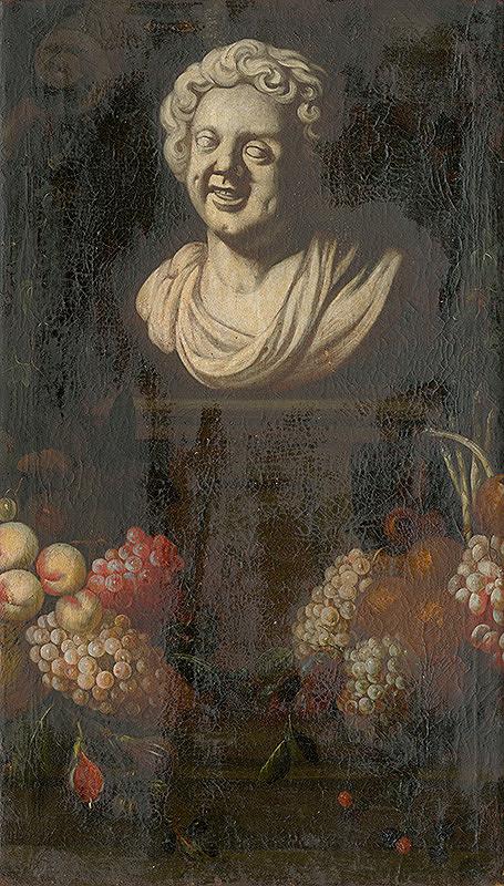 Nemecký maliar z 1. polovice 18. storočia – Ovocné zátišie s bustou I.