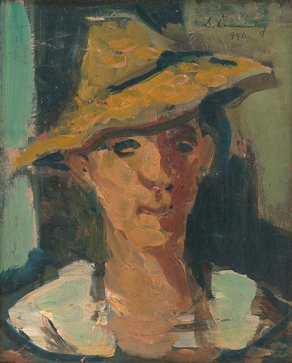 Ladislav Čemický – Hlava ženy s klobúkom