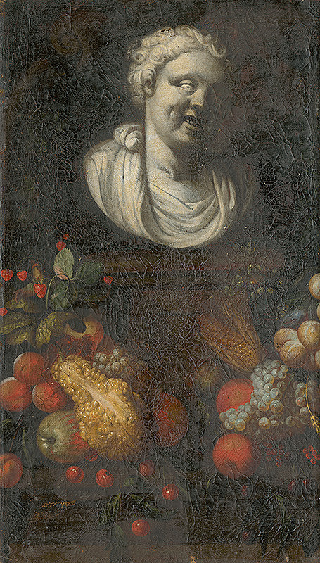 Nemecký maliar z 1. polovice 18. storočia – Ovocné zátišie s bustou II.