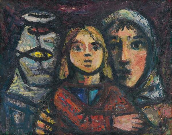 Ján Mudroch – Matka s dieťaťom pri akváriu