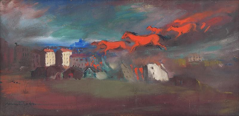 Július Nemčík – Oheň, 1944, Slovenská národná galéria