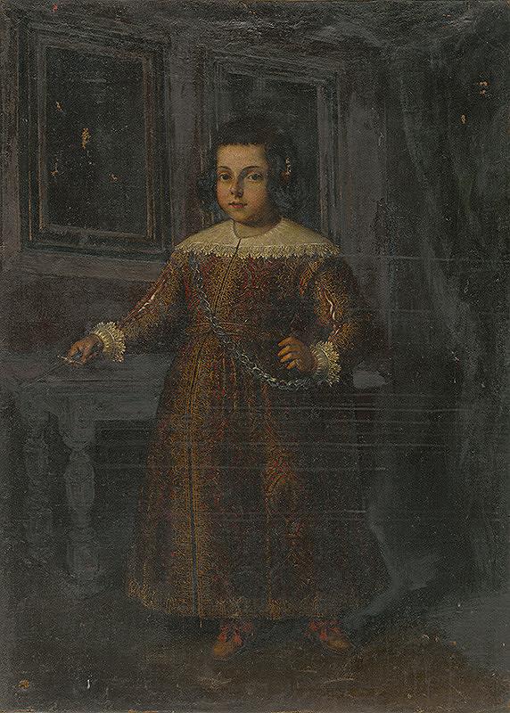Stredoeurópsky maliar zo 17. storočia - Podobizeň stojaceho dievčatka - kópia