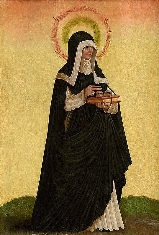Podunajský maliar z roku 1519 – Sv.Otília - rub