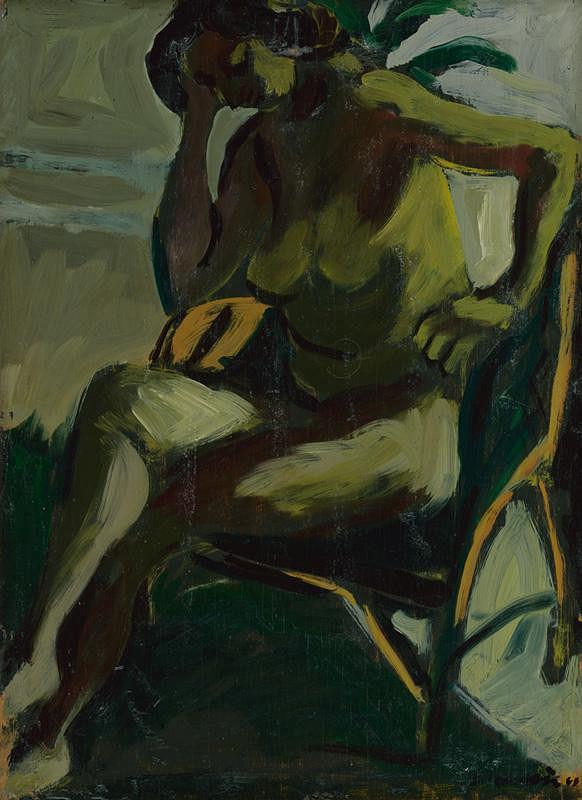 Eugen Nevan – Akt v zelenom