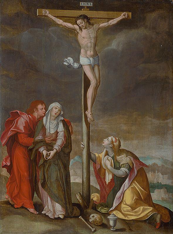 Český maliar zo začiatku 17. storočia - rudolfínsky maliar – Ukrižovanie
