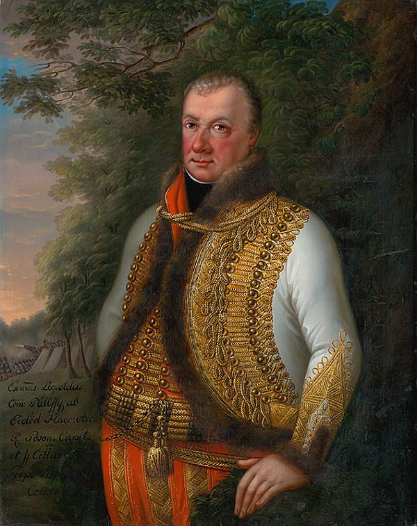 Stredoeurópsky maliar z 19. storočia - Podobizeň Leopolda Pálfyho v krajine