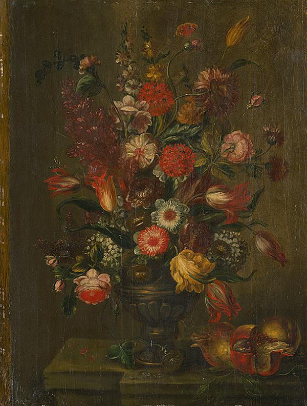 Nemecký maliar z 18. storočia – Zátišie s kvetmi