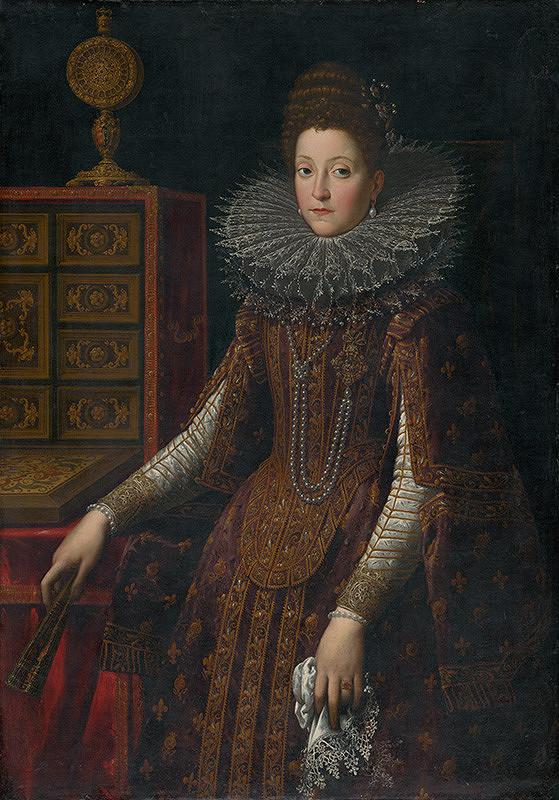 Nemecký maliar z prelomu 16. - 17. storočia – Mária Magdaléna Rakúska, arcivojvodkyňa Toskánska