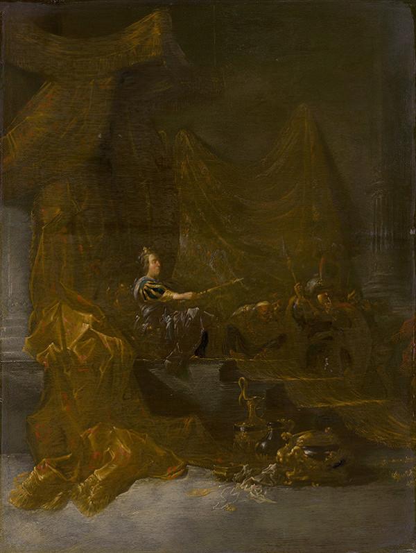 Pieter Symonsz. Potter, Willem de Poorter, Leonard Bramer - Kráľovná zo Sáby pred Šalamúnom
