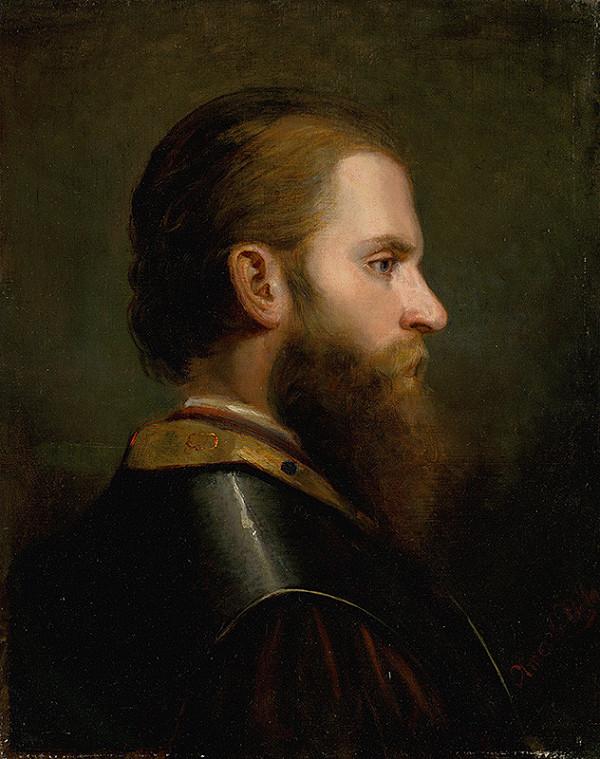 Friedrich von Amerling – Štúdia hlavy muža