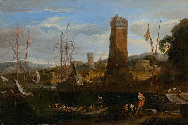 Taliansky maliar z 1. polovice 18. storočia, Johann Anton Eismann - Prímorská krajina I.
