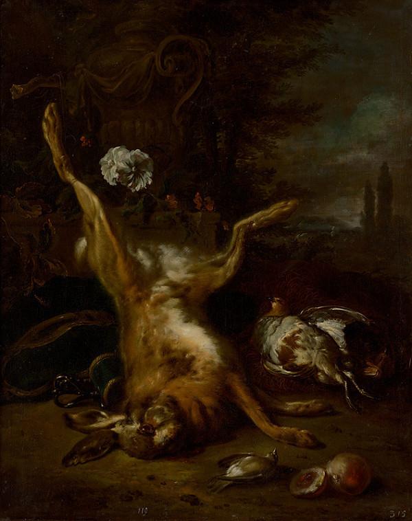 Nemecký maliar zo začiatku 18. storočia – Zátišie so zastrelenou zverinou