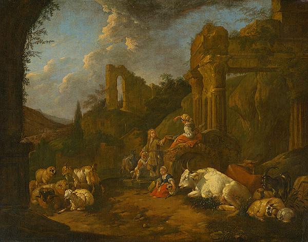 Johann Heinrich Roos - Pastierska idyla