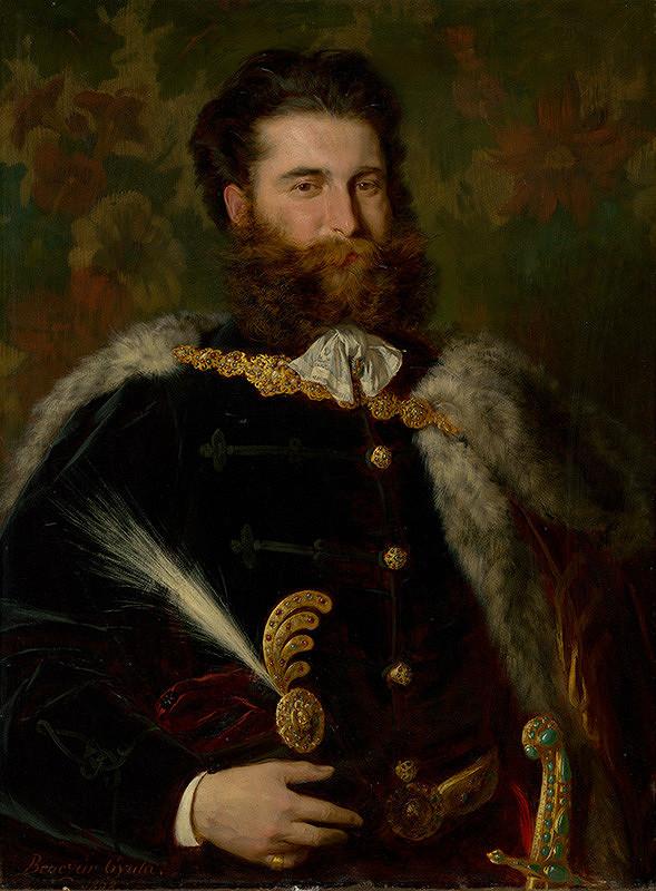 Gyula Benczúr – Podobizeň Alberta Ujházy