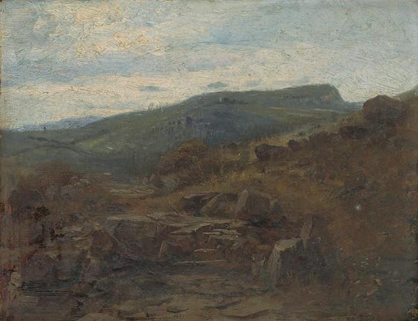 Vojtech Angyal – Krajina z okolia Kremnice