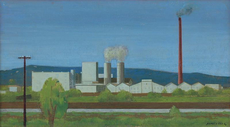 Ladislav Guderna – Cvernová továreň, 1950, Slovenská národná galéria