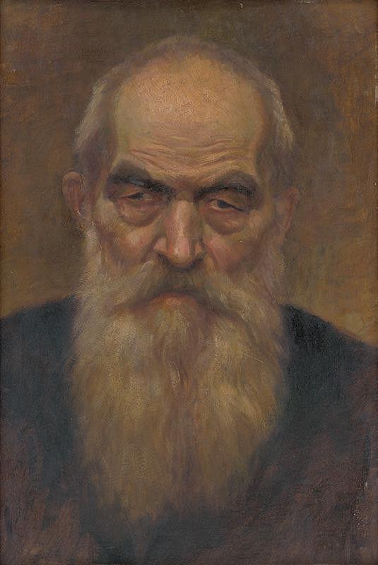 Ladislav Treskoň - Štúdia hlavy starca s bradou