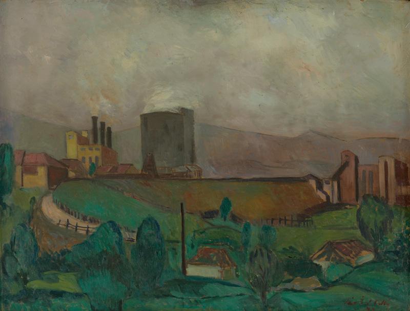 Ján Želibský – Handlovský závod, 1949, Slovenská národná galéria
