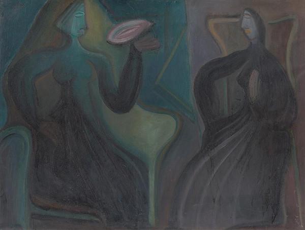 Karol Polónyi - Sediace ženy