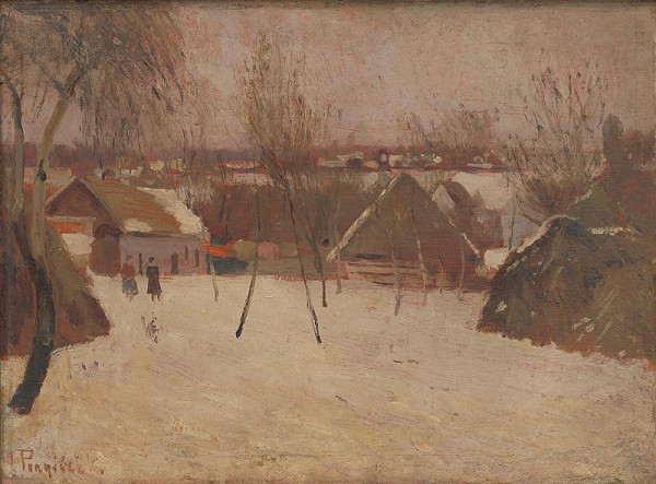 Karol Pongrácz - Dedinka v zime