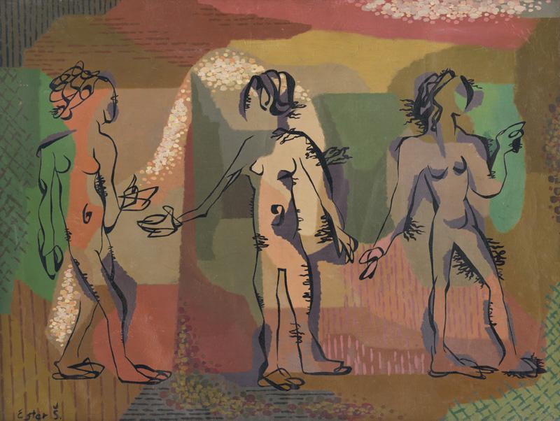 Ester Šimerová-Martinčeková – Tri grácie, 1944, Slovenská národná galéria